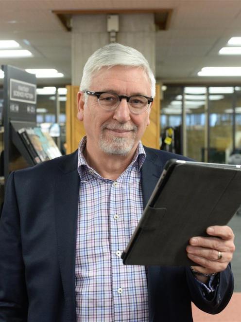 Digital Community Trust chairman John Gallaher says a ''Living Hub'' inside Dunedin City Library...