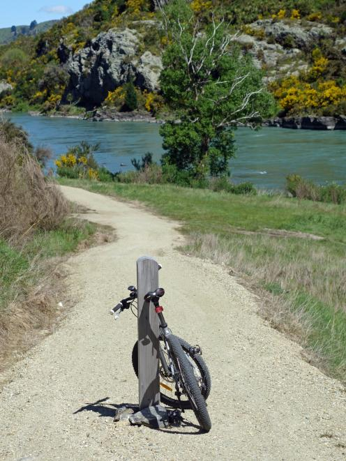 The Clutha Gold cycle trail between between Millers Flat and Beaumont is  attracting increasing...