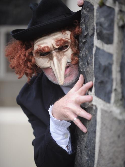 British actor Guy Masterson gets in character as Shylock from  Shakespeare's play The Merchant of...