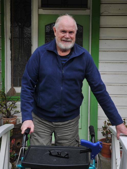 Stuart Reid, of Dunedin, has a date for hip replacement surgery after two years of waiting. Photo...