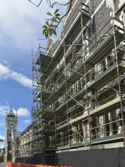 The University of Otago's Registry Building and its distinctive clocktower are about to get a facelift. Photo by Gerard O'Brien.