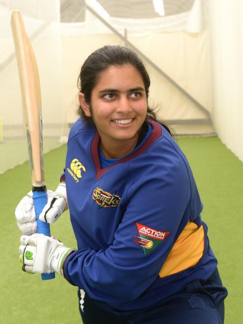 Otago Sparks new player Shebani Bhaskar. Photo by Linda Roberston.