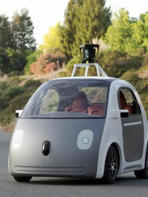A prototype of a Google driverless car. Photo by Reuters/Google.