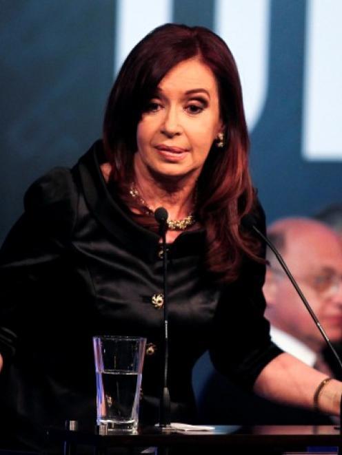Argentine President Cristina Fernandez. Photo Reuters