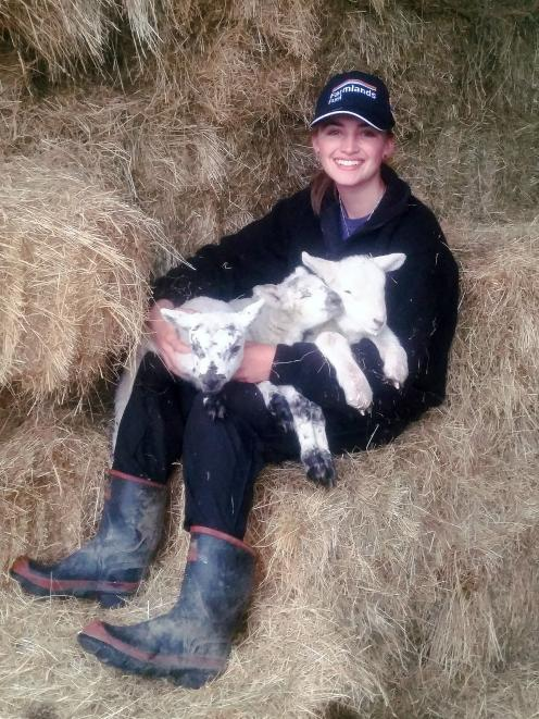 Scottish teenager Jessica England is enjoying an agricultural experience in New Zealand. Photo:...