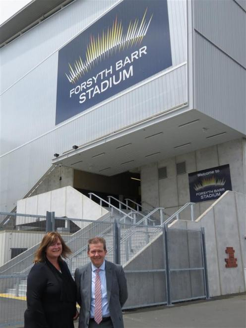 Dunedin Venues marketing manager Kim Barnes (left) and chief executive Terry Davies are pleased...