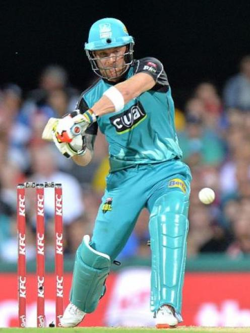 Brendon McCullum in action for the Brisbane Heat. Photo Getty