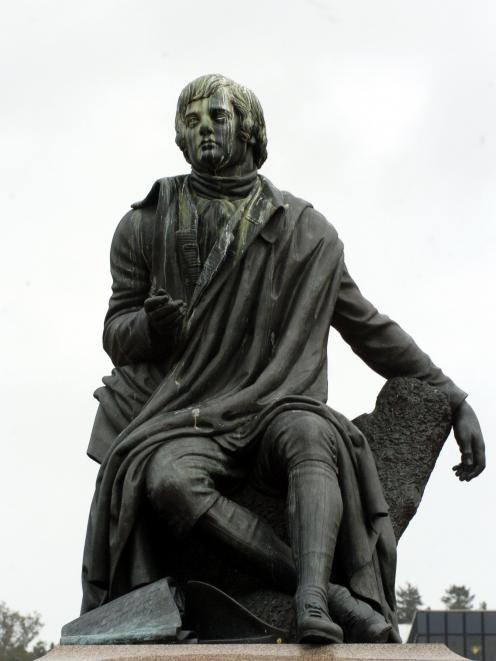 Robert Burns' message endures. Photo: ODT.