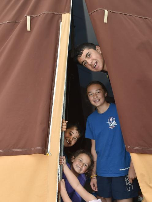 Camping at Warrington Reserve on Saturday are (from top) Tama Chapman (12), of Otematata, Jalizza...