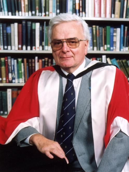 Emeritus Prof Richard Dowden at the time of his retirement from the University of Otago physics...