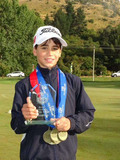 Noah Novacek can hardly wait for August, when he will compete against some of the world's best junior golfers in North Carolina, in the United States. Photo by David Williams.