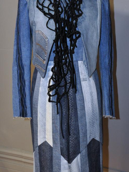 Designer Melanie Child's upcycled denim. Photos: Christine O'Connor.