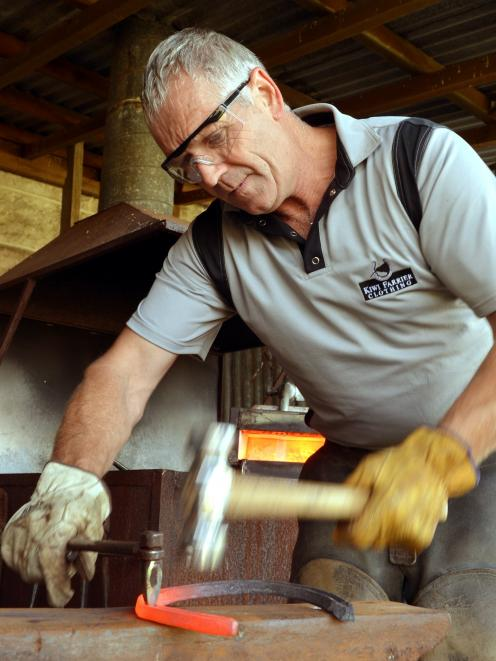 Farrier Malcolm Oakes is downing tools for a week to lead a  Goldfields Cavalcade trail. Photo by Stephen Jaquiery.