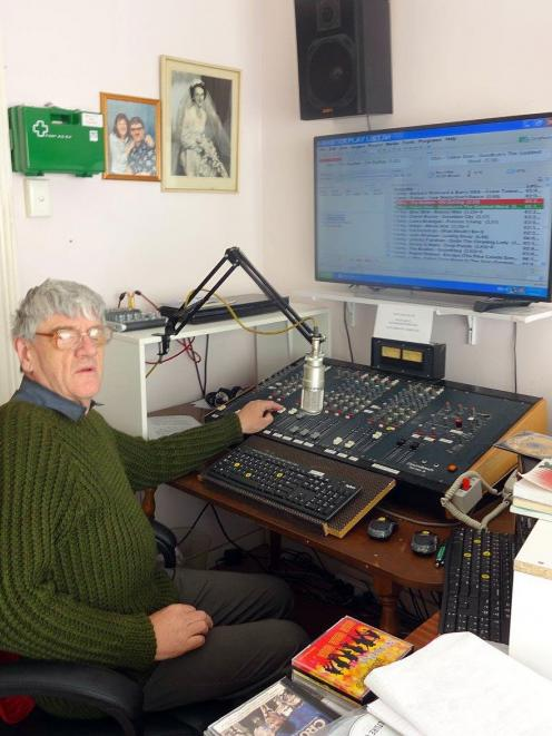 Lawrence McCraw in the studio he is developing for his Happy Days 88.3 FM Radio station in...