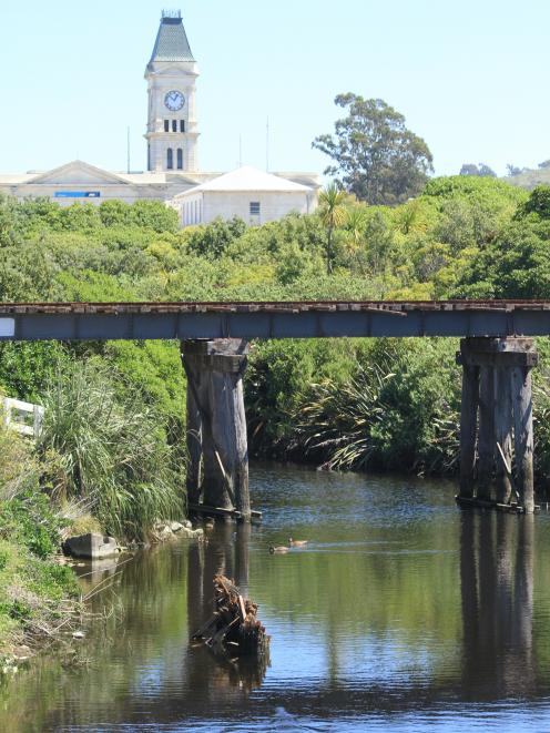 The old Oamaru Creek bridge. Photo: Hamish MacLean.