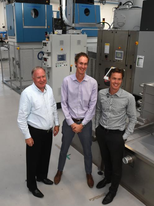 Mark (left), Rick and Steve Wellington view their new Linenmaster development.