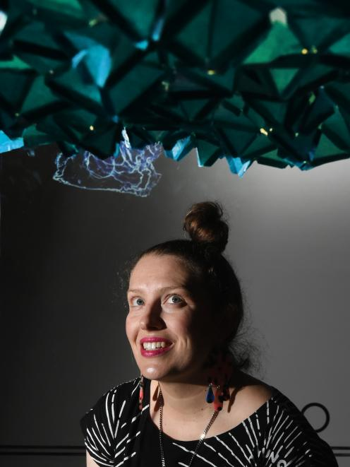 Artist Gabby O'Connor has created a multimedia exhibition based on two visits to the Antarctic with scientists. Photo: Gregor Richardson