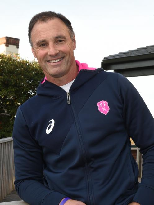 Stade Francais coach Greg Cooper back home in Dunedin this week. Photo: Gregor Richardson.