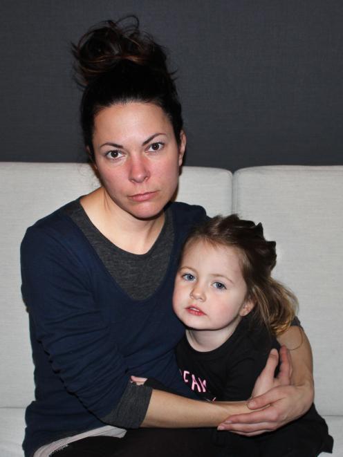 Peyton Pettigrew with her daughter Evey (3) in their rental home in Alexandra.  Photo: Jono Edwards.