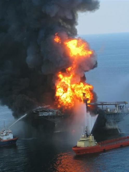The Deepwater Horizon seabed blowout and subsequent rig fire was a combination of human and...