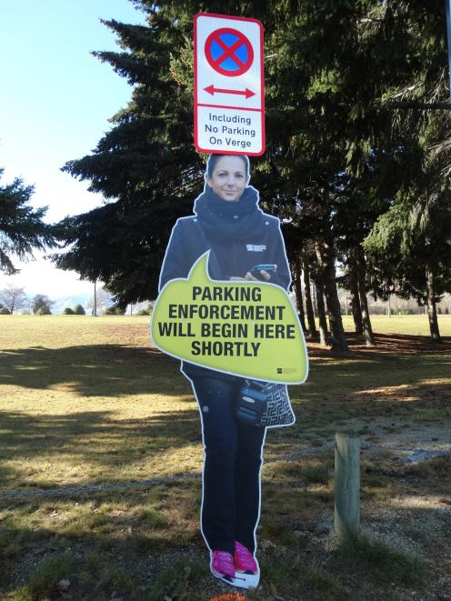 The Queenstown Lakes District Council may look at introducing signage similar to this  to send a...
