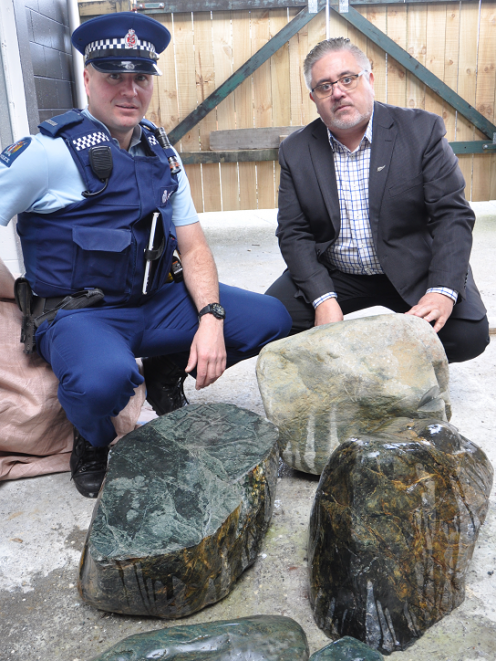 West Coast Police iwi liaison officer Shane Allen (left) and Ngati Waewae chairman Francois...