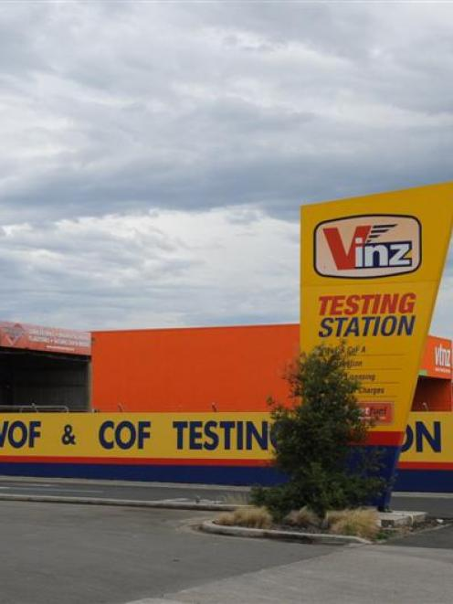 The Vinz testing station in Andersons Bay. Photo by Linda Robertson.