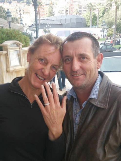 Duayne proposed to Deana in Monaco, where he and Dwayne Terry were invited to a ceremony to collect their world title from the 2013 World Championship Jet Boat Marathon. Photo: Supplied