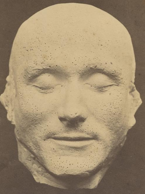 This plaster death mask of William Jarvey was taken after his execution at Dunedin Gaol in 1865 for poisoning his wife. Photo: Hocken Collections