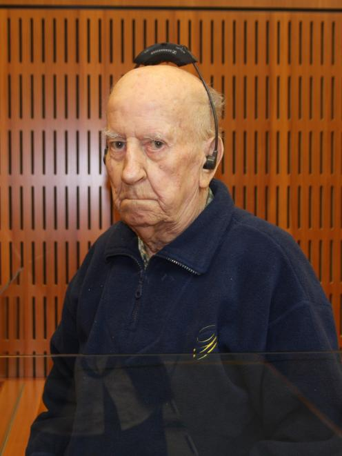 William Arthur Lee in the Timaru District Court dock yesterday.