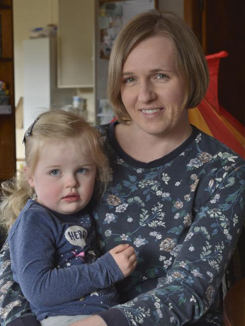 Home-based ''Educator of the Year'' Monika Gamble at home with her daughter Nina (3). Photo:...
