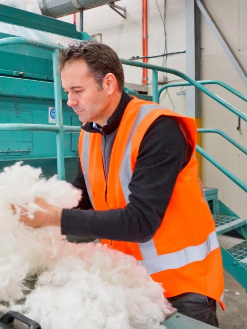 Wools of New Zealand chief executive Rosstan Mazey at the Timaru Cavalier wool scour plant. Photo: Wools of New Zealand