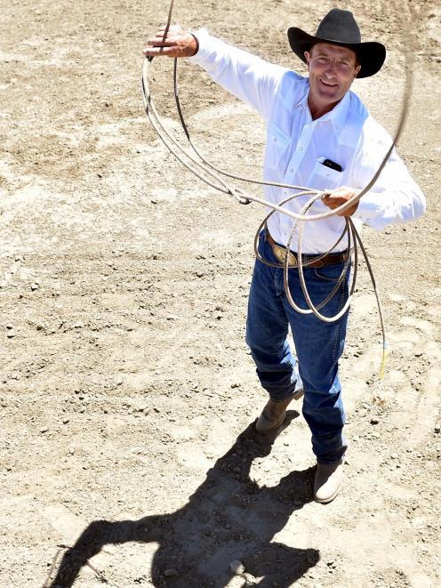 Hawea Flat's Pat McCarthy at the Wanaka Rodeo in 2016.