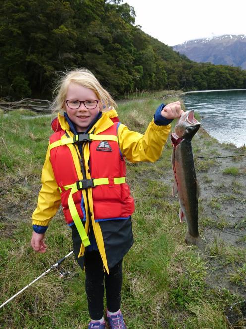 Heidi Kendrick of Wanaka with a nice river rainbow trout.