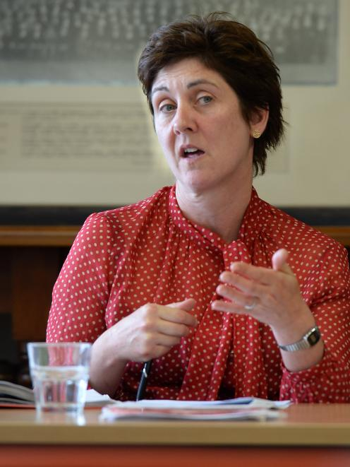 Law Commissioner Helen McQueen makes a point yesterday. Photo: Linda Robertson