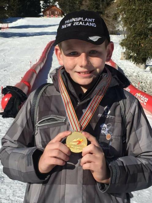 Ranfurly boy Hamish Crossan won a gold medal in his age group and was runner-up for the Nicholas Cup at the World Transplant Games in Anzere, Switzerland. Photo: Helen Evans