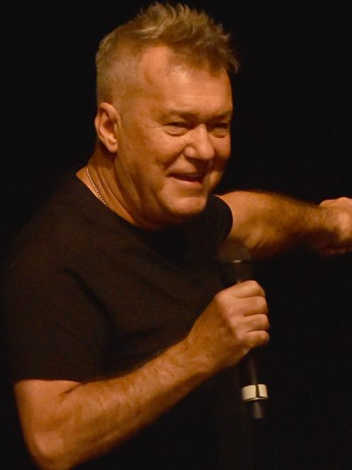 Jimmy Barnes entertains the Dunedin crowd last year. Photo: ODT
