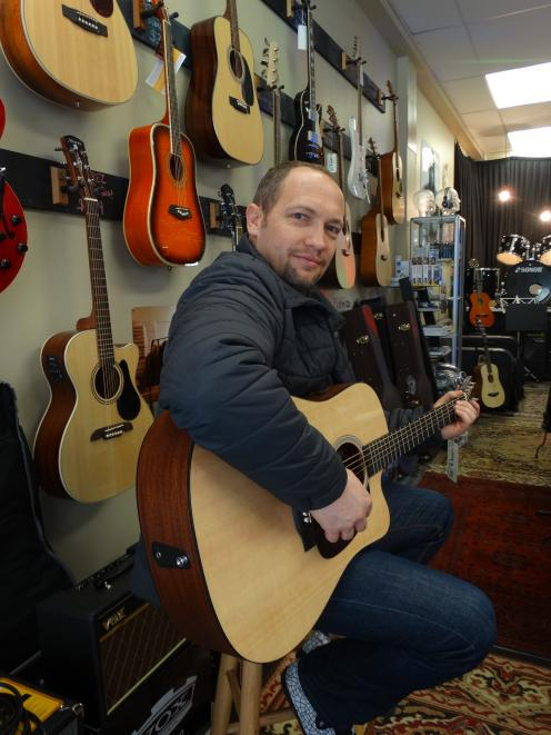 Queenstown musician Marc Hamilton doing what he does best. Photo: ODT Files