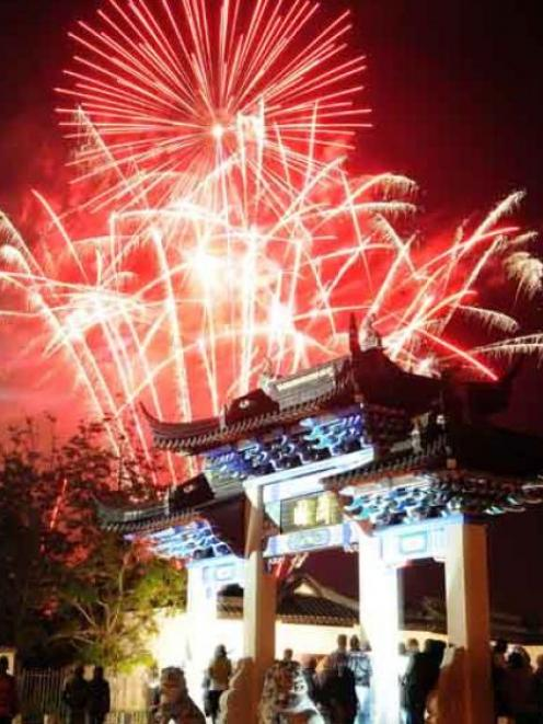 The Chinese New Year fireworks display will be replaced by a light and sound show. Photo: ODT