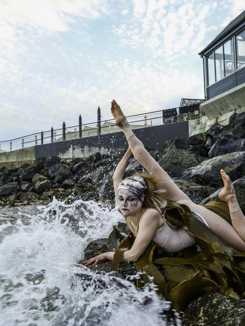 Performer Regina Hegemann emerges from the elements for Elemental. PHOTO: Kassandra Lynne