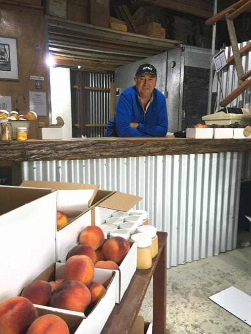 Orchardist Mike Darling in the Moorpark and Mulberry shop near Cromwell. Photos: Sally Rae