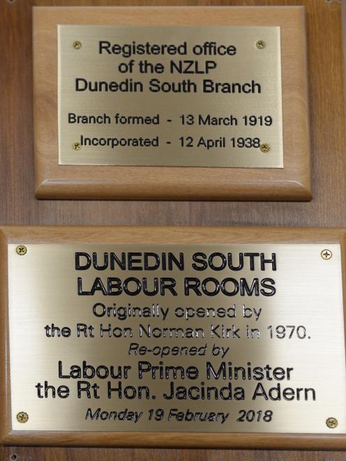 The plaque that had Prime Minister Jacinda Ardern's name misspelled. Photo: Linda Robertson