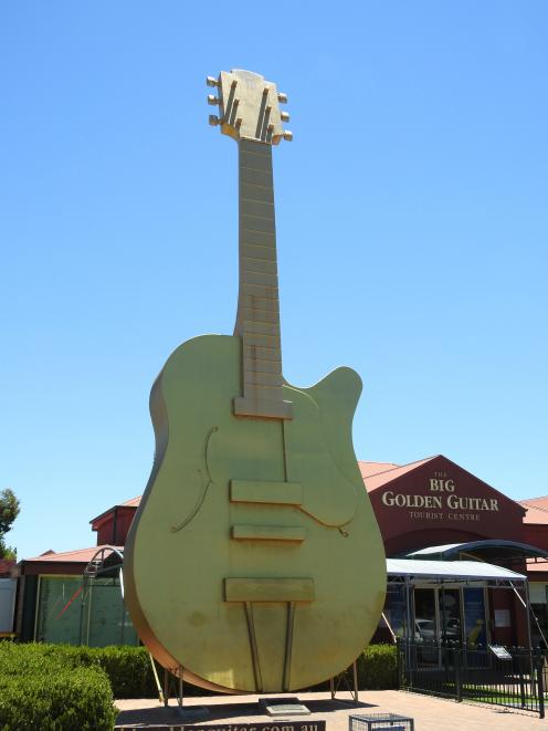 The Golden Guitar is probably the most-photographed sculpture in Tamworth, where visitors queue...