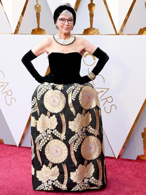 Rita Moreno on the red carpet this year. Photo: Getty Images