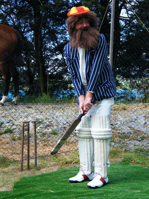 Former Otago first-class cricketer John Cushen reckons my approach to cricket is a bit soft. Well, it may be, but I never dressed like this. Here he demonstrates the proper attire to wear at the crease - that is, if you are W.G. Grace. Not sure what the h