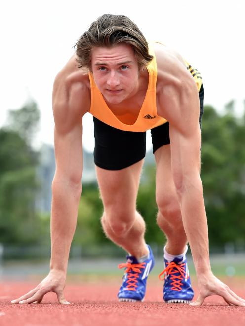 Sam Gouverneur (18) at the Caledonian Ground earlier this week in preparation for the athletics...