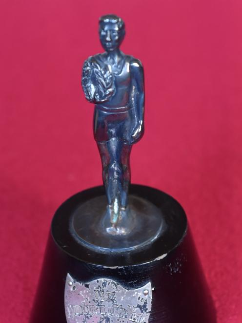 One of Snell's New Zealand sportsperson of the year trophies.