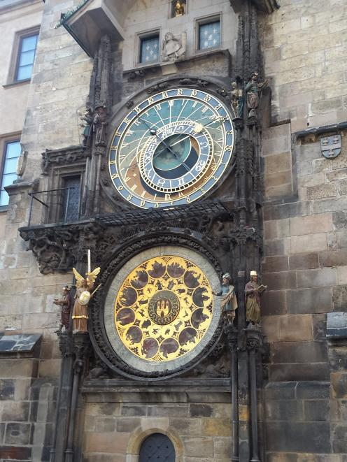 The Astronomical Clock, which gives an animated hourly show.