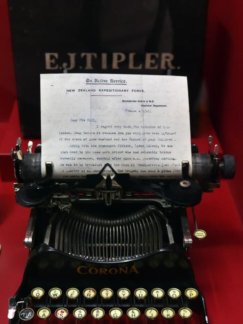 This typewriter was used to send word home to the families of fallen soldiers.