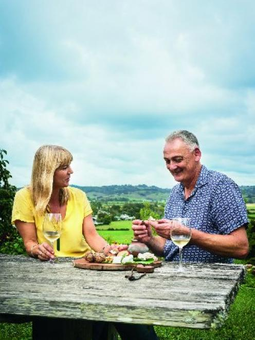 Helen and Richard Dorresteyn, of Clevedon Buffalo Co, love nothing more than spreading some of their marinated mozzarella on a cracker.